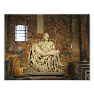 Michelangelos Pieta i Sts Peter Basilica Fototryck