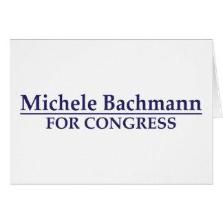 Michele Bachmann för kongress Hälsningskort