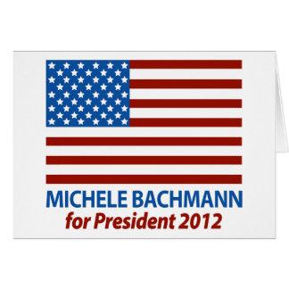 Michele Bachmann för presidenten 2012 Hälsningskort