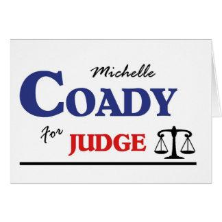 Michelle Coady för domare Hälsningskort