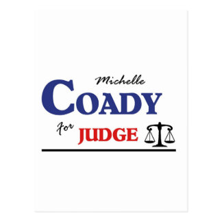 Michelle Coady för domare Vykort