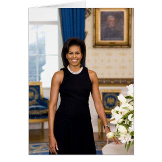 Michelle Obama hälsningkort Hälsningskort