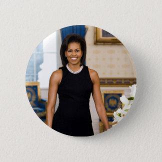 Michelle Obama knäppas Standard Knapp Rund 5.7 Cm