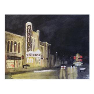 Michigan teater Ann Arbor Vykort