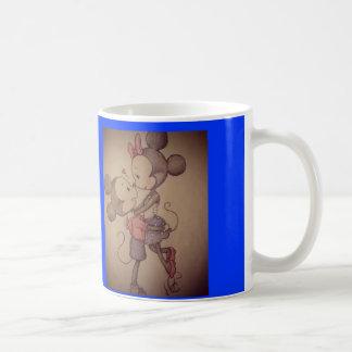 mickey- & minniekopp kaffemugg