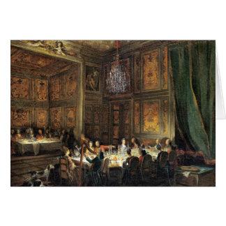Middag av princen av Conti i tempelet Hälsningskort