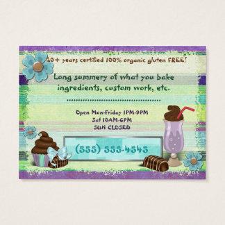 MIDDAG för BAGERI för VEGAN för sötmabagerigodor Visitkort