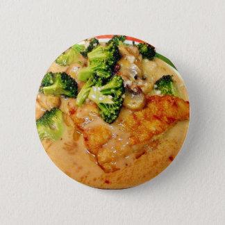 Middag för matlagning för havskattbroccoliPiccata Standard Knapp Rund 5.7 Cm