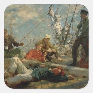 Middagarna vilar (sjömän som Yarning), 1906 (olja Fyrkantigt Klistermärke