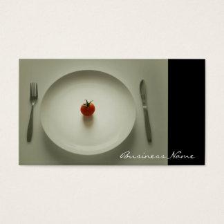 Middagen tjänas som visitkortar visitkort