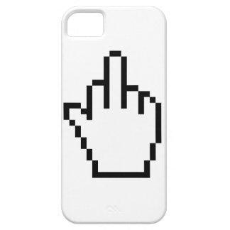 Middlefinger för PCmuspekaren iPhone 5 täcker iPhone 5 Fodral