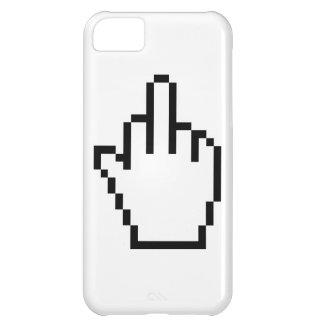 Middlefinger för PCmuspekaren iPhone 5 täcker iPhone 5C Fodral