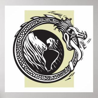 Midgard orm och jord affischer