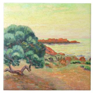 Midi landskap, 1898 (olja på kanfas) kakelplatta