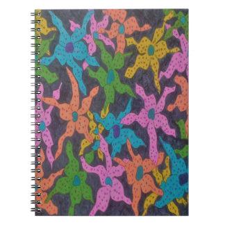 Midnatt blom- bukett anteckningsbok