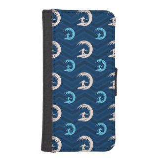 Midnatt himmelblått, solbränna som surfar, mobil plånböcker