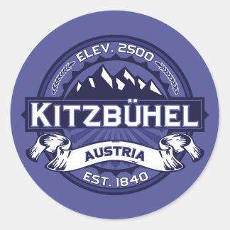 Midnatt Kitzbühel logotyp Runt Klistermärke