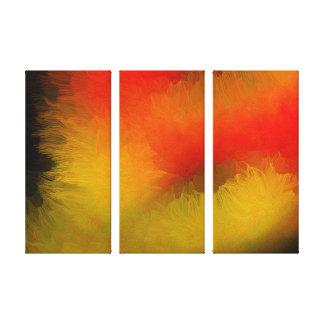 Midnatt ljus abstrakt canvastryck