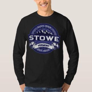 Midnatt mörk för Stowe logotyp Tee Shirt