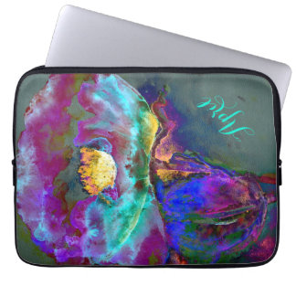 Midnatt vallmo - monogram laptop sleeve