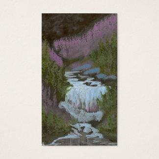 Midnatt vattenfall visitkort