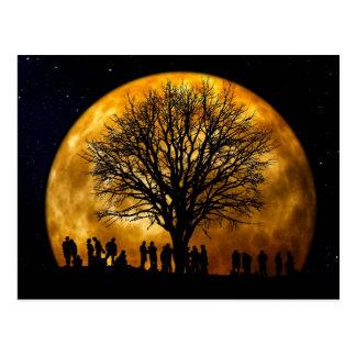 Midnatt vykort för fullmåne