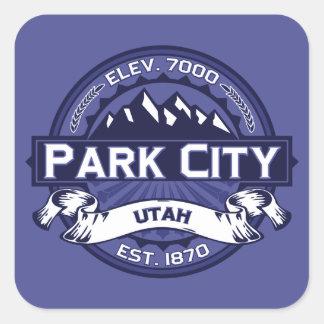 Midnatta Park City Fyrkantigt Klistermärke