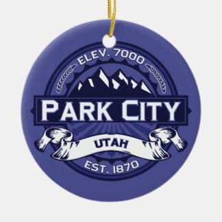 Midnatta Park City Julgransprydnad Keramik