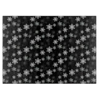 Midnatta svart snöflingakastbyar