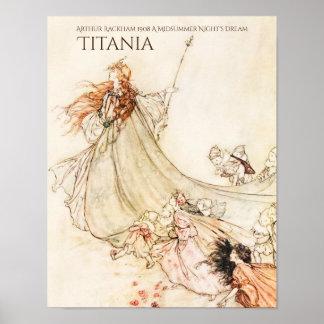 Midsummernatts dröm- Titania Arthur Rackham Poster
