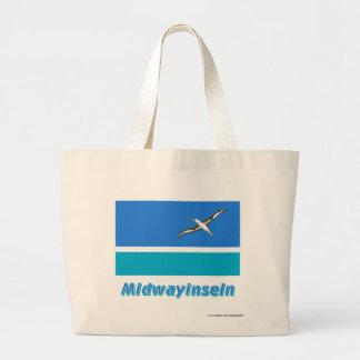 Midwayinseln Flagge mit Namen Tote Bag