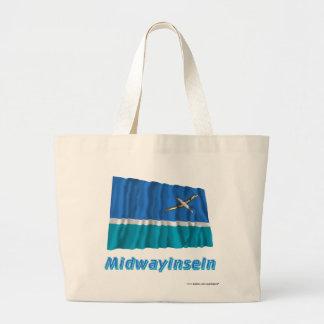 Midwayinseln Fliegende Flagge mit Namen Kassar