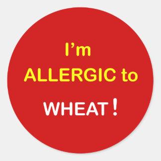 Mig allergisk förmiddag - WHEAT. Runt Klistermärke