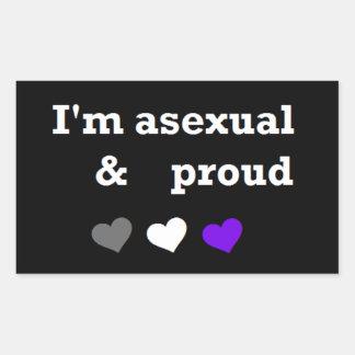 Mig asexual & stolt klistermärke för förmiddag