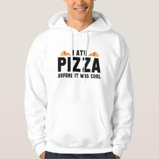 Mig åtPizza, för den var kall Sweatshirt