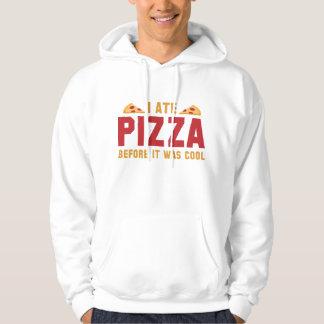 Mig åtPizza, för den var kall Sweatshirt Med Luva