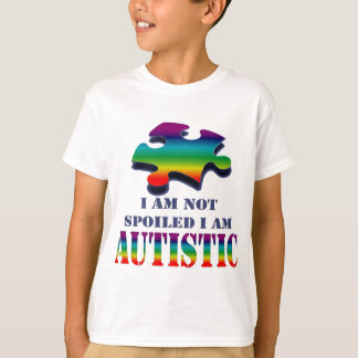 Mig autistic spolierad I förmiddag för förmiddag Tee Shirts