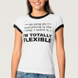 Mig böjlig rolig T-tröja för förmiddag totalt Tröjor