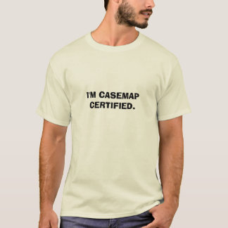 Mig CERTIFIED. förmiddag CASEMAP T Shirts