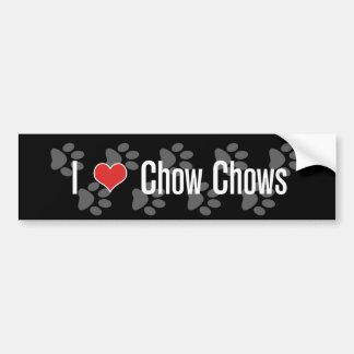Mig ChowChows (för hjärta) Bildekal