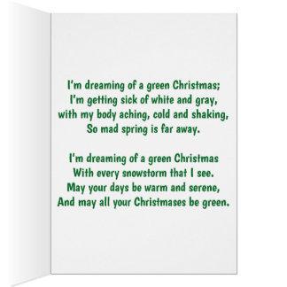 Mig drömma för förmiddag av grön jul hälsningskort