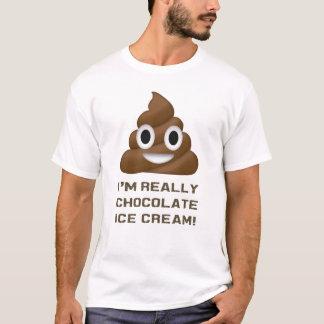 Mig för förmiddag för chokladglass egentligen t-shirts