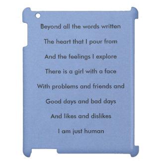 """""""Mig för förmiddag för människa"""" flicka precis iPad Skydd"""