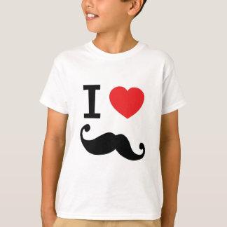 Mig för hjärta Moustache twirly Tshirts