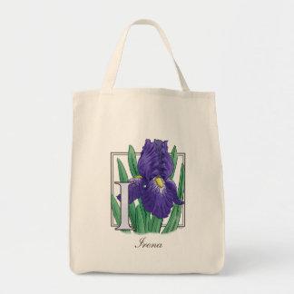 Mig för IrisblommaMonogram Mat Tygkasse