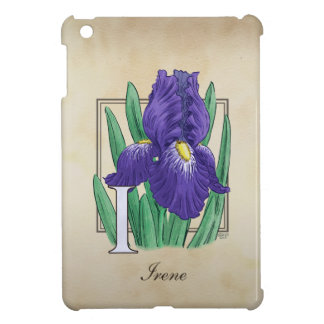 Mig för IrisblommigtMonogram iPad Mini Mobil Skal