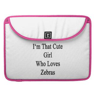 Mig förmiddag den gulliga flicka som älskar zebror sleeves för MacBook pro
