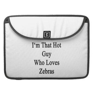 Mig förmiddag den varma grabb som älskar zebror sleeve för MacBooks