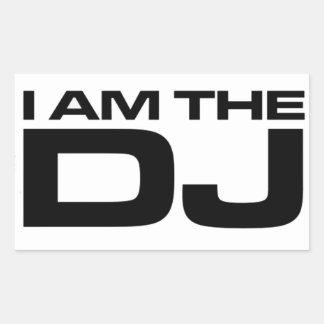 Mig förmiddag DJEN Rektangulärt Klistermärke