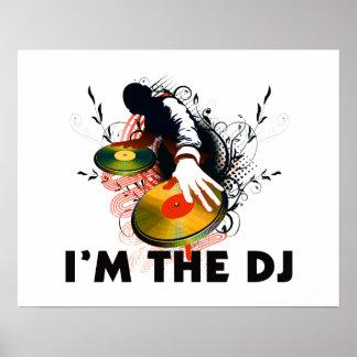 Mig förmiddag DJEN Rockin turntablesna Poster